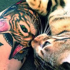 these bengal cat tattoos are purrfection