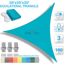 Canopy Triangle Sun Shade by Patio Paradise 20 U0027 X 20 U0027 X 20 U0027 Turquoise Green Sun Shade Sail