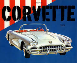 corvette poster vintage corvette poster silodrome cars chevy and car posters