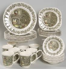 christmas dinnerware merry christmas by johnson brothers at replacements ltd