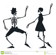 Dancing Halloween Skeleton by Skeleton Couple Stock Photos Image 6779723