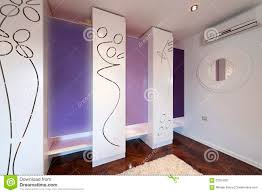 interior of a modern dressing room with modern closet stock photo