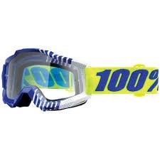 goggle motocross 100 accuri sundance goggle clear lens sixstar racing