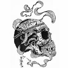 tibetan skull and snake tattoo design photos pictures and