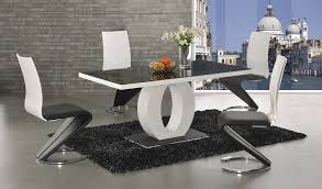 black and white kitchen table halo high gloss glass dining table contemporary design stylish