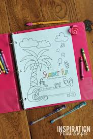 summer activity book and journal inspiration made simple