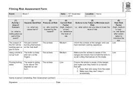 manufacturing risk assessment template risk assessment form sle sle printable coshh risk