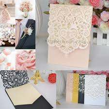 invitation pockets wholesale laser cut wedding invitation pocket greeting cards