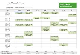 Monthly Employee Work Schedule Template Excel Schedule Template Vnzgames