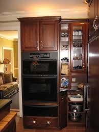 Built In Kitchen Cabinet Double Built In Oven Stainless Steel Gas Wall Oven White Painted