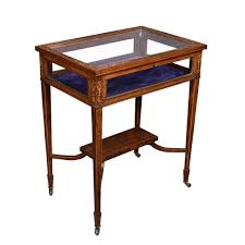 edwardian rosewood and inlaid rectangular bijouterie display table