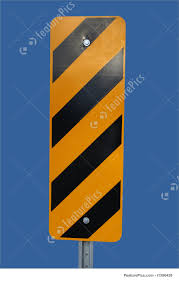 Blue And Black Striped Flag Picture Of Warning Stripes Sign