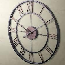 Shabby Chic Wall Clocks by Wall Clock Large Wrought Iron Wall Clock Very Large Wrought Iron