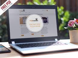 realistic laptop mockup template free psd psdfreebies com