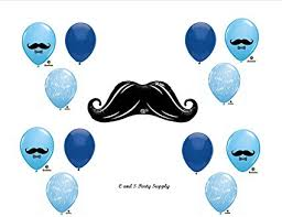 mustache baby shower decorations mustache baby shower balloons decorations