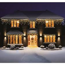 premier led outdoor snowing icicles lights