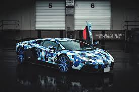lamborghini aventador race car photoshoot of arctic camo lamborghini aventador gtspirit