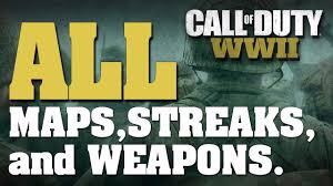 maps fall challenge call of duty ww2 all items maps scorestreaks variants basic