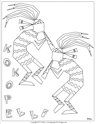 kokopelli indian coloring pages hopi native american drawings