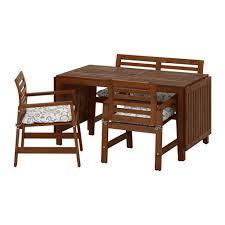 2 Armchairs äpplarö Table 2 Armchairs Bench Outdoor äpplarö Brown