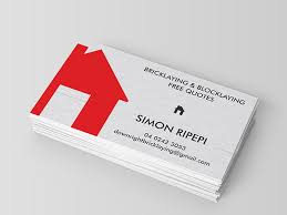 Business Cards Perth Downright Bricklaying Business Card Design Be Still Graphic