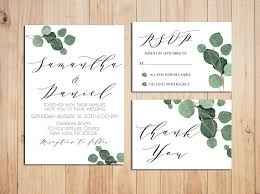 wedding invitations greenery greenery wedding invitation printable wedding invitations