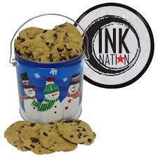one gallon cookie christmas tin large chocolate chip cookies