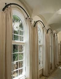 Curtains For Windows With Arches Arched Window Curtain Rod Home Projects Pinterest Arched