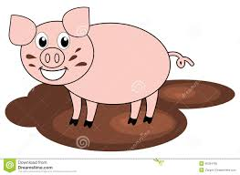 mud clipart pig pencil and in color mud clipart pig