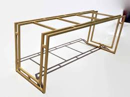 modern gold table l this exclusive made to measure gold table base is a modern take on