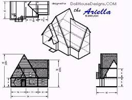 Free Miniature Dollhouse Plans Beginner by Ariella Dollhouse Plan Modern Style Dollhouse Structure In 1 12 Scale