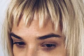 long haircut with layers and disconnection tutorial short bang