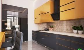 cuisine bois et gris cuisine bois et noir simple cuisine taupe et bois