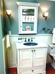 modern college apartment bathrooms with single sink and white
