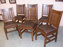 mission dining room table mission style dining chairs incredible pertaining to 16