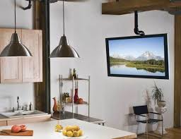 kitchen televisions under cabinet stunning sanus tv ceiling mount for kitchen popular and cabinet