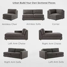 Sectional Sofa Pieces Build Your Own Sectional Pieces West Elm
