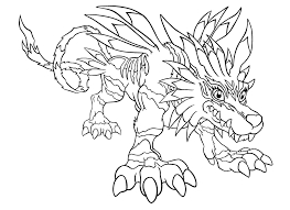 digimon coloring page free printable digimon coloring pages for