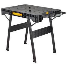 folding work table home depot dewalt 33 in folding portable workbench dwst11556 the home depot