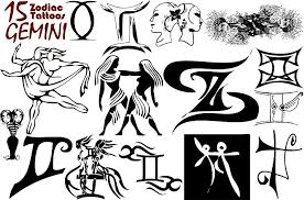 innovative gemini zodiac tattoo design for girls picsmine