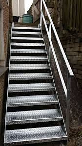 Galvanised Handrail Staircases U0026 Fire Escapes Jays Gates