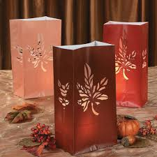luminary bags fall leaf autumn theme bulk 12 bags 383 3 2383