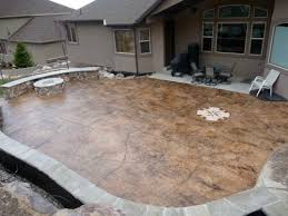 Cement Patio Designs Backyard Cement Patio Ideas