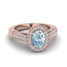 aquamarine engagement rings 14k rose gold blue aquamarine fascinating diamonds