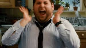 Excited Meme - happy jonah hill gif find share on giphy