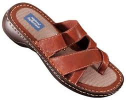 Comfort Sandals For Ladies Natural Reflections Ocala Leather Toe Loop Sandals For La