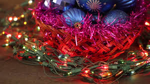 Christmas Decorations Video Lights by White Christmas Tree Trimmed With Colorful Decorations Lights And
