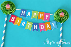 free printable birthday cake banner birthday cake bunting skip to my lou