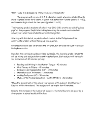 Entry Level Marketing Resume Samples by K To 12 Salient Point
