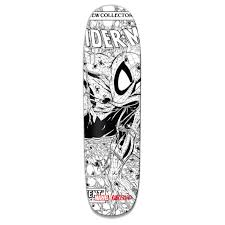 grizzly x spider man ink cruiser board grizzly griptape